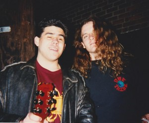 Hanging with Frank Hannon in 1995
