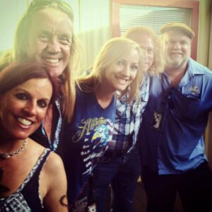Nicko McBrain! Courtesy Nita Strauss FB