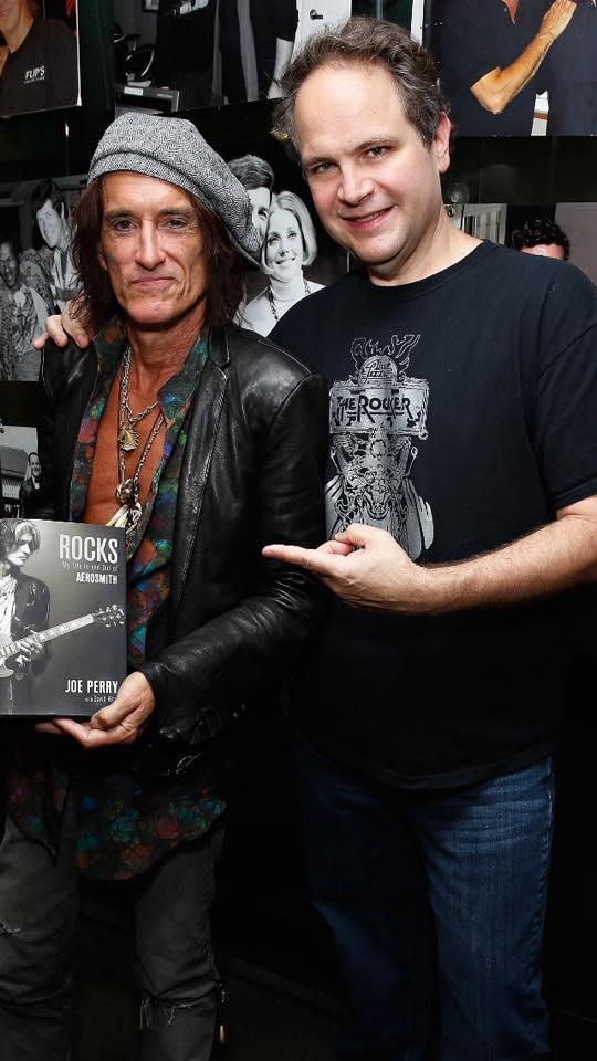 Eddie with Joe Perry - Courtesy Eddie Trunk Facebook
