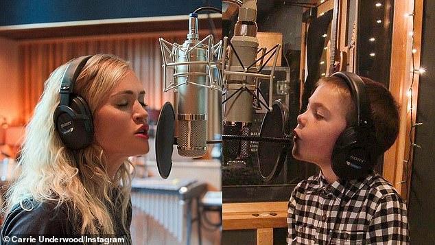 Carrie Underwood & Son